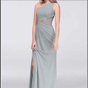 David's Bridal Mystic Gray Dress